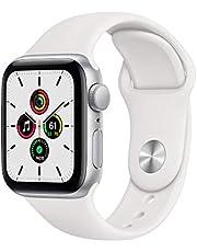 Nieuw AppleWatch SE (GPS, 40-mm) kast van zilverkleurig aluminium - Wit sportbandje