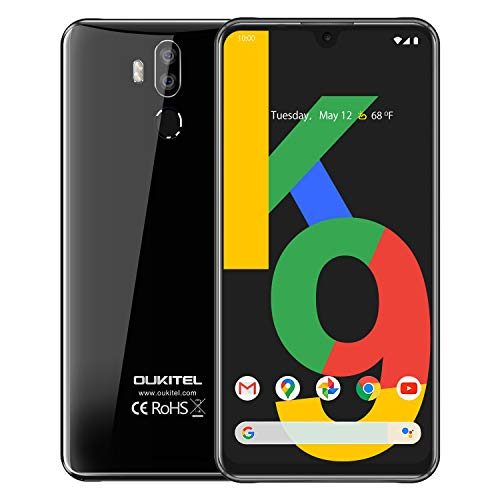 OUKITEL C22 Unlocked Smartphone, 4G Android 10 Triple Cameras Cell Phone, 4GB 128GB Dual SIM 4000mAh Battery 5.86 Inches 13MP Rear Camera Face Fingerprint ID Global LTE Mobile Phone