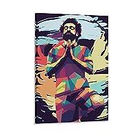サッカースポーツポスターサッカー選手モハメドサラー3キャンバスアートポスターとウォールアート写真プリント家族の寝室研究室の装飾ポスター20x30インチ(50x75cm)