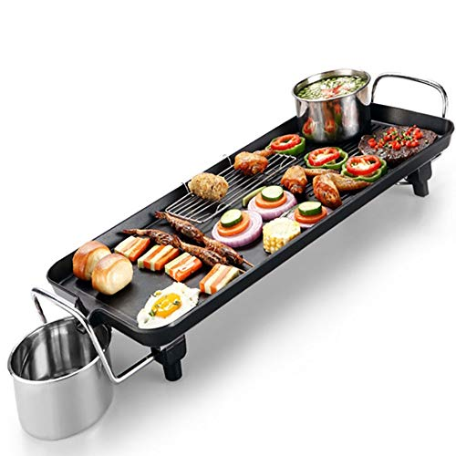 LiRongPing Multifunktions-Elektro-Ofen Antihaft-Grillfach Teppanyaki Table Grill BBQ Griddle Hot Plate Large Top mit regelbarer Temperatur DREI Größen (Size : 40 * 23cm)