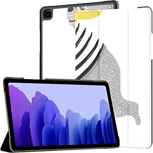 Custodia per Samsung Galaxy Tab A7 Tablet da 10,4 pollici 2020 (sm-t500   t505   t507), Simpatico orso Scooter Design vettoriale Illustrazione Copertura del supporto ad angolazione multipla