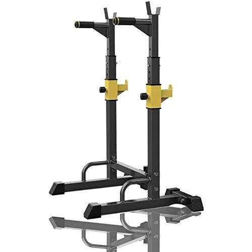 Rack De Sentadillas De Ajustable Squat Rack Multifuncional Barbell Stands Para Sentadillas Alto Y Ancho Regulable Barbell Rack Portátil Interior Equipo, Carga Máxima De 250 Kg