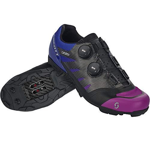 SCOTT Zapatilla MTB RC SL Supersonic EDT Ciclismo, Hombre, Black/Drift Purple, 48