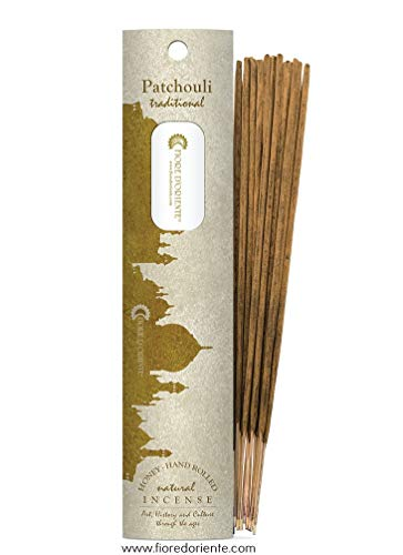 Patchouli Traditional & Natural Incense 10STICKS - Honey - Hand Rolled - FIORE D'ORIENTE