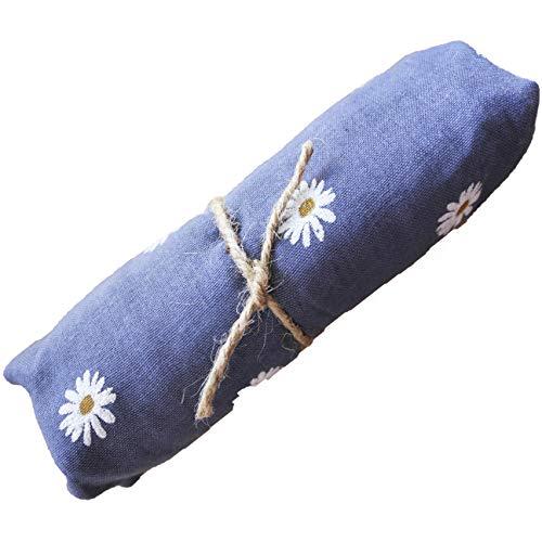 FERETI Blau Schal Margeriten Weiße Tücher Blumenmuster Weiß Foulard print Fein