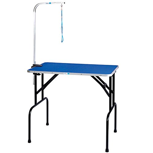 Master Equipment Grooming Table w/36In Grooming Arm, 36x24In Blue