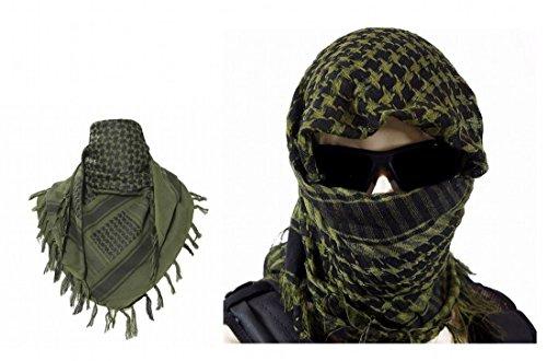 ARUNDEL SERVICES EU Verde Shemagh árabe Toca árabe Chal de algodón Pañuelo árabe Pañuelo de Cabeza de Desierto Camping Paintball Pañuelo de Cabeza Face Mesh Envoltura del Desierto Bandanas