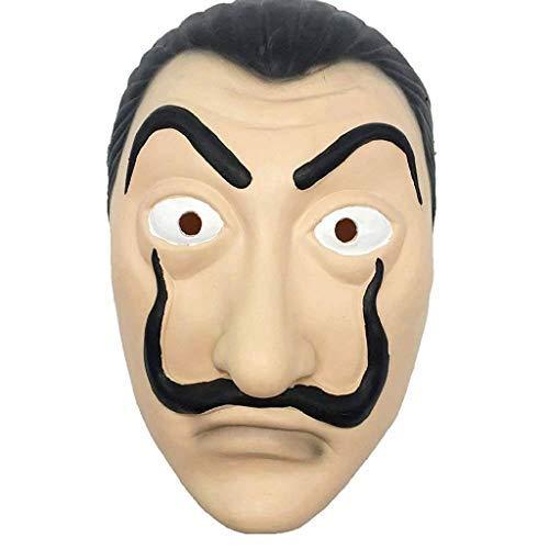Legisdream Maschera Dalì Carnevale di Salvador Dalì dal Telefilm La Casa di Carta Accessorio Idea Travestimento