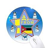 je suis du mozambique bonhomme de neige, tapis de souris série star mat