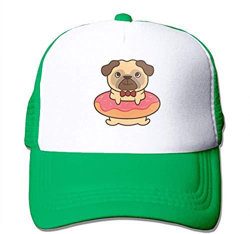 Voxpkrs Pug in My Donut Adjustable Mesh Trucker Baseball Cap Men Or Women Street Rapper Hat asdfghjklzxc6898