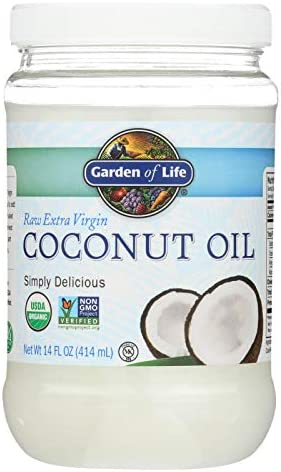 GARDEN OF LIFE Organic Coconut Oil Raw Extra Virgin Pack of 6 Size 14 FZ No Artificial Ingredients product image