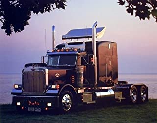 Impact Posters Gallery Wall Decor Peterbilt Semi Big Rig Truck with Trailer Picture Art Print (8x10)