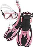 Cressi Rocks Pro Dry Set, Black/Pink, L/XL