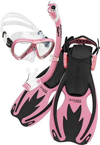 Cressi Rocks Pro Dry Set, Black/Pink, S/M