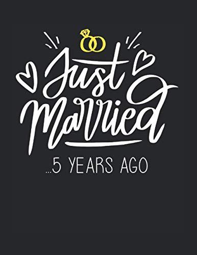 5. Hochzeitstag Geschenk Jubiläum Ehe Ehepaar Just Married: A4+ Softcover 120 Beschreibbare Karierte Seiten | 22 X 28 Cm (8,5X11 Zoll)