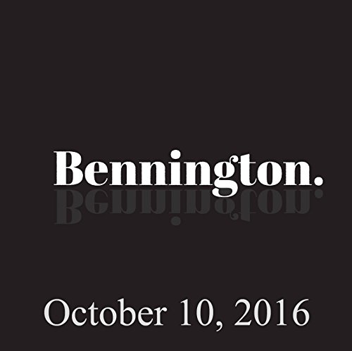 Bennington, October 10, 2016 audiobook cover art