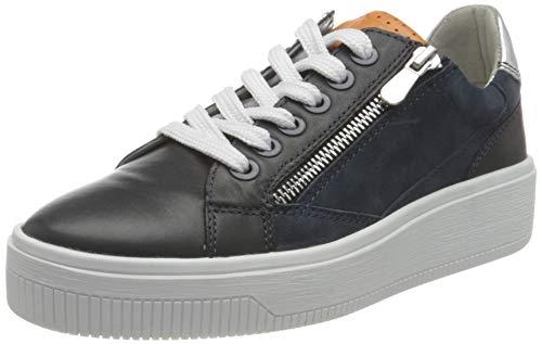 MARCO TOZZI 2-2-23769-26 Leder Sneaker, Zapatillas Mujer, Azul Marino, 37 EU