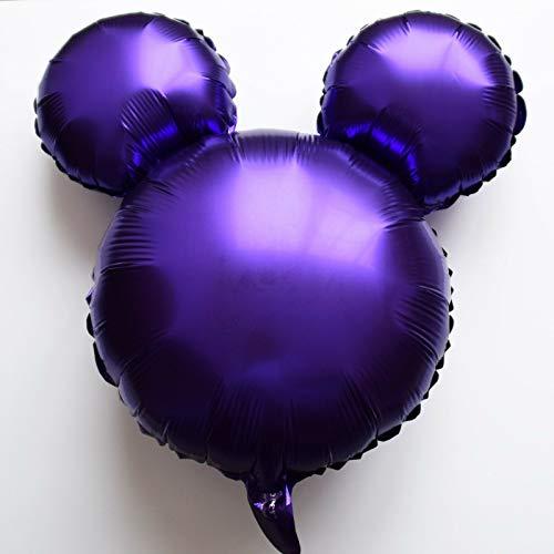 SauParty XL Micky Helium Folienballons Minnie Maus Kopf Disney Taufe Geburtstag Balloon, Farbe:R37F10 Lila