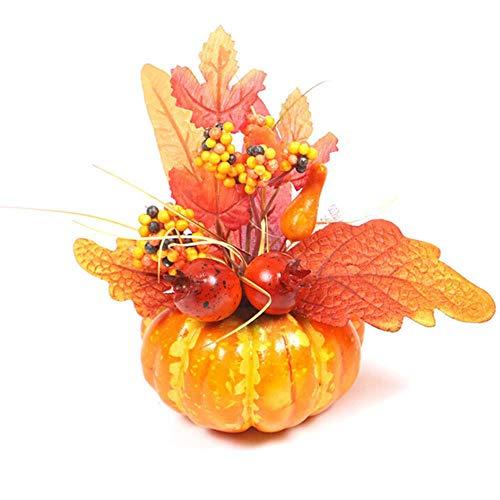Lili 15cm Artificial Pumpkins Maple Leaf Granada Mesa Decoración para el hogar Casa Prop Otoño Otoño Cosecha Acción de Gracias Decoración de Halloween, A1