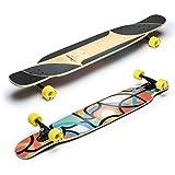 Loaded Boards Bhangra V2 Freestyle & Dancing Fullshape - Longboard (123,2 cm), Multicolor, Flex 2 (Medium Flex)