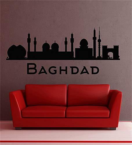 wandaufkleber 3d Wandtattoo Wohnzimmer Stadt Land Silhouette Sehenswürdigkeiten Bagdad Für Wohnzimmer Schlafzimmer