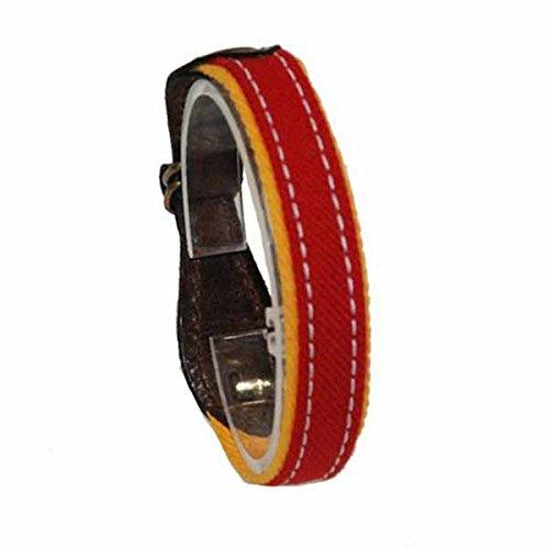 Pulseras Monumental de tela de muleta - Rojo, XL (21,5 cm.)