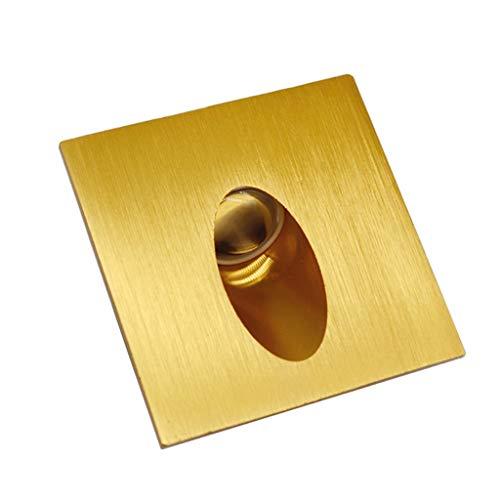 Inleg van gebogen aluminium, voor Frans bed, 1 W stappen, gouden champagne (kleur: Positive white light, maat: 1W55MM)