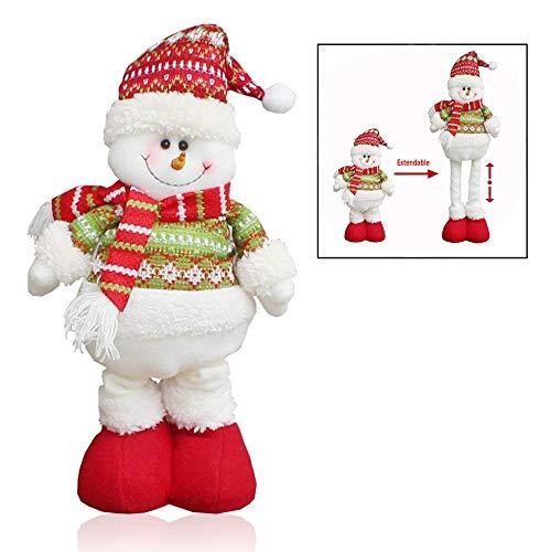 Xrten Natale Bambola Santa,Decorazione Natalizia Forma di Babbo Natale con Gambe Estensibili Pupazzo Natalizio Regalo di Natale