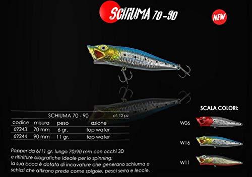 EXPERT PREDATOR Esca Artificiale RAPALA Popper Schiuma 11GR 90 MM (W06)