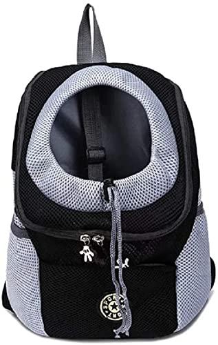 Mochila Perro Bolso Perros Mochilas para Mascotas Gato Portátil Carrier Backpack de Transporte para Viajar Senderismo Camping Talla XL Negro - [Clase de eficiencia energética A]
