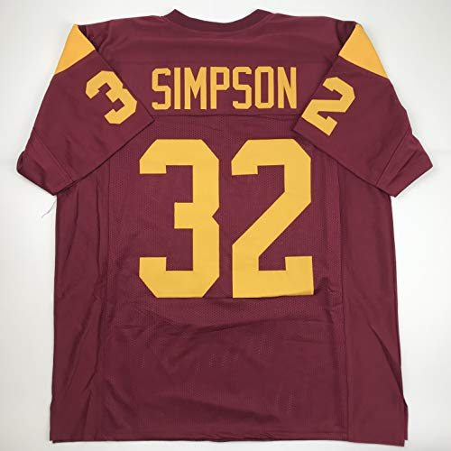 Unsigned O.J. OJ Simpson USC Red Custom Stitched College Football Jersey Size Men's XL New No Brands/Logos