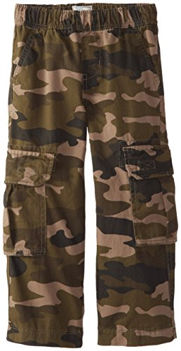 The Children's Place Little Boys' Pull-On Cargo Pant, Olive Camo, 7
