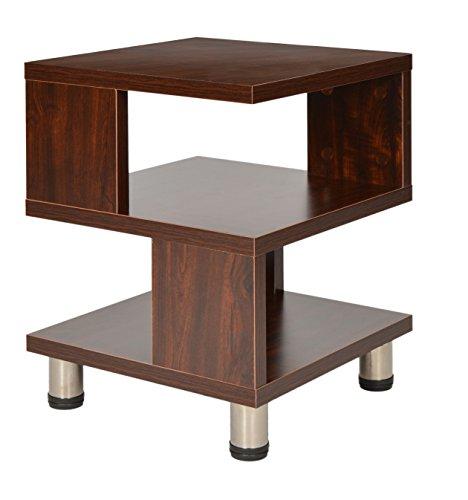 ts-ideen Mesa auxiliar unidad de almacenamiento madera en Marrón nogal mesita de telefono mesa de noche pasillo oficina dormitorio