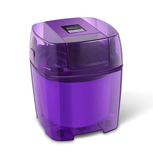 WZLJW DIY Homemade Ice Cream Maker Professional, eléctrico pequeño Gelato Sorbete de Yogurt Helado de máquina, Fabricante de Helado de máquina 1.5L púrpura ggsm