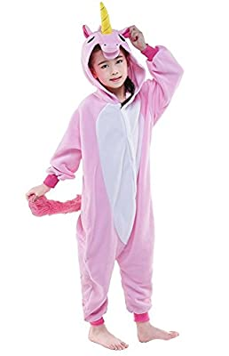 Mescara - Pijama Kiguruma - Disfraz de unicornio para niño, unisex, color rosa, talla 105