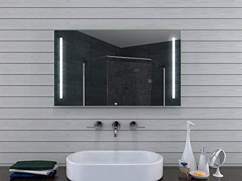 Lux-aqua Design Specchio da Bagno con Luce Caldo/Freddo–100x 60cm