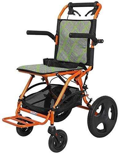 XUSHEN-HU Sillas de ruedas ligeras de 8,2 kg, brazos de fácil transmisión y piernas de elevación para descansar, cómodo apoyabrazos, rueda delantera universal, material que absorbe la humedad