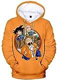 Silver Basic Sudadera con Capucha para Niños Disfraces de Dragon Ball Z Goku Impresos en 3D para Niños Niñas 130,2724Goku Naranja-1…