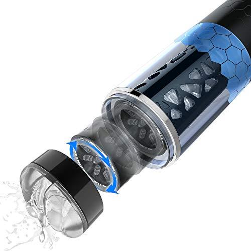 Massagegerät mit Teleskoprotationsfunktion Multifunktionsmassage Herrenmassagegerät Beruhigt den Druck 10 Modi 3 Geschwindigkeiten