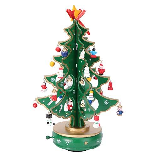 jinyi2016SHOP Caja de Música Caja de música Árbol de Navidad Diseño de relojería Mini Caja de música clásica Regalos for niños y niñas Amigos Cajas Musicales decoración (Color : B)