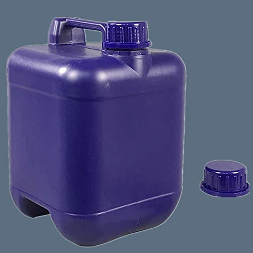Stasy 5 L / 10 L Contenedor Universal De Agua para Acampar con Tapa, Plástico Transparente para Exteriores, Botella De Agua/Aceite De Emergencia Resistente A ácidos Y álcalis(Color:Azul,Size:5L)