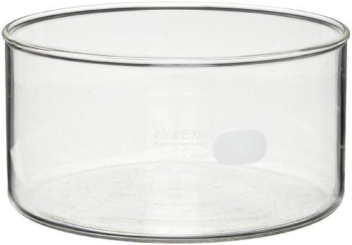 Corning Pyrex 3140-100 Borosilicate Glass 325mL Heavy Duty Rim Crystallizing Dish, 100mm Diameter x 50mm Height (Pack of 6)