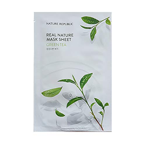 [Nature Republic] Real Nature Mask Sheet 10 PCS Korean Cosmetics (Green Tea 10 EA)
