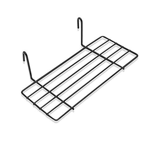 Mini Regal für Design Metall Wandgitter | Foto Eisen Gitter Raster Dekoration | Memo -Moodboard | Gridpanel | Wand Organizer | DIY Multifunktions -Grid Deko | Draht |25 x 10 cm Ablage (Schwarz)
