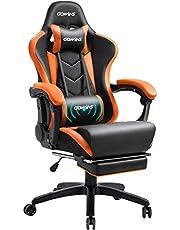 GOWINS オフィスチェア ゲーミングチェア デスクチェア マッサージ機能 オットマン リクライニング ひじ掛け パソコンチェア 椅子 ゲーム用チェア イス 耐荷重 150kg 一年無償部品交換保証