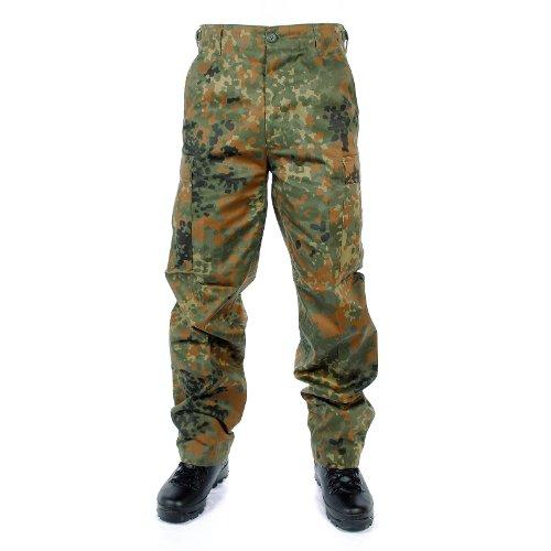 Mil-Tec EE.UU. Pantalón Ranger Tipo BDU Negro - Flecos Camuflaje, M