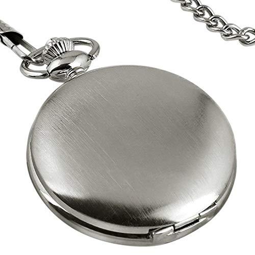 Fliyeong Men Pocket Watch, Vintage Steampunk Smooth Surface Pendant Chain...