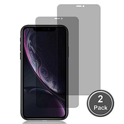 Lanxks [2 Pack] iPhone 11/XR Privacy Screen Protectors, iPhone 11/XR Tempered Glass Privacy Screen Protector [3D Touch] [9H Hardness] [No Bubble] Compatible with iPhone 11/XR [6.1 inch]