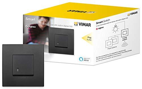 Vimar 0K19592.02 Arké smart interruttore a 2 vie funziona con Alexa, kit plug & play per dispositivo in Zigbee Hub, richiesto un neutro cablato