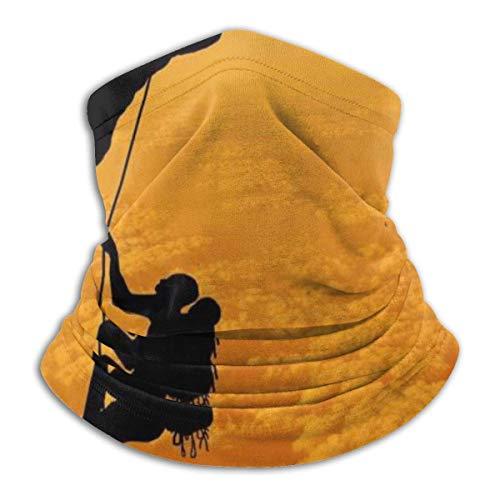 Lsjuee Unisex Rock Climbing Adventure Calentador de cuello Protectores faciales transpirables Bufanda de cuello a prueba de viento Protección UV al aire libre Magic Sc .